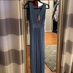 Light blue maxi maternity dress
